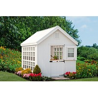 Colonial Gable Greenhouse - Panelized Kit Little Cottage Co.