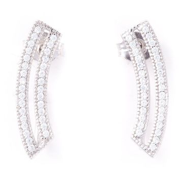 V Jewellery contour loop earrings