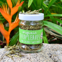 Organic Stevia Leaves in a JAR 20g - Zero Calories / Stevia Leaves / Natural Sweetener / Fair-trade / Naturally Sourced / Organic Product