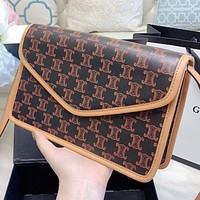 Celine New Fashion Pattern Print Leather Shoulder Bag Crossbody Bag