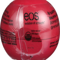 Eos Products Lip Balm - Smooth Sphere - Organic - Pomegranate Raspberry - .25 Oz - Case Of 8