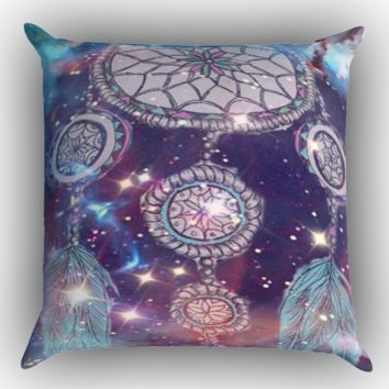 Dream Catcher in Galaxy  Z0228 Zippered Pillows  Covers 16x16, 18x18, 20x20 Inches