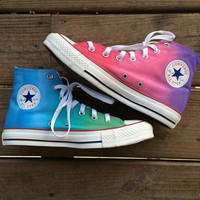 Pastel Tie Dye Converse High Tops