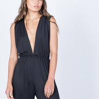 Plunging Party Time Jumpsuit
