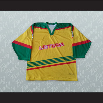 Lietuva Lithuania Hockey Jersey Stitch Sewn NEW Any Player or Number