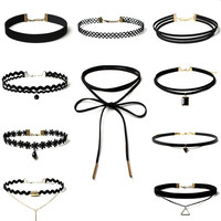 10Pcs Womens Boho Necklace Choker Gift