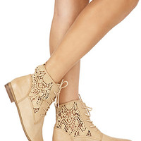 Rustic Girl Lace-Up Boots