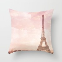Paris in Pink Throw Pillow by Legends of Darkness Photography