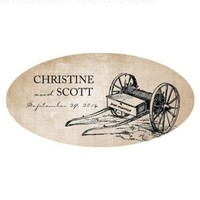 Rustic Country Large Cling - Chocolate Brown