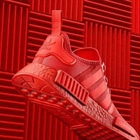Sale Adidas NMD R1 Solar Red S31507 Boost Sport Running Shoes Classic Casual Shoes Sneakers