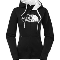 The North Face Half Dome Full Zip Hoodie in Black and White for Women CW61-KY4