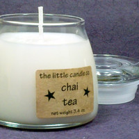 Chai Tea Soy Candle Jar - Hand Poured and Highly Scented Container Candles