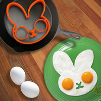 Rabbit Head Shaped Silicone Egg Mold Omelet Creative Fried Egg Molds Cooking Molds Ring Kitchen Tool = 6014767047