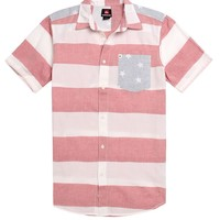 Quiksilver Rights & Lefts Woven Shirt - Mens Shirt - White Red -