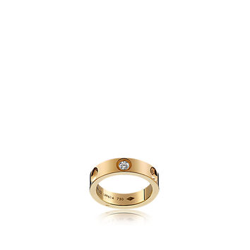 Products by Louis Vuitton: Small Empreinte ring in yellow gold with diamond