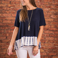 Love Never Ends Top, Navy