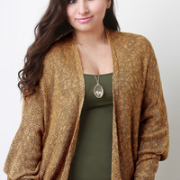 Relaxed Fit Slub Knit Cardigan