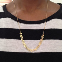 Gold Chevron Arrows Necklace UK Shop