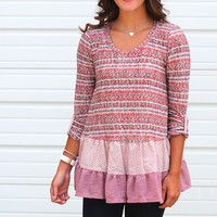 Ruffled Sweater Tunic {Mauve}