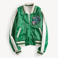 Indie Designs Cactus Embroidered Bomber Jacket