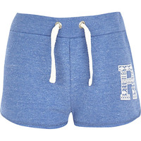River Island Girls blue runner shorts
