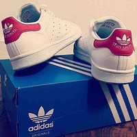 Adidas stan smith trendy men and women fashion sports shoes F Red