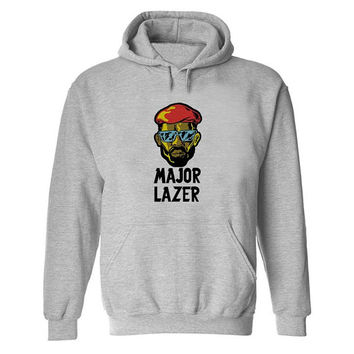 major lazer Hoodie Sweatshirt Sweater Shirt Gray and beauty variant color  for Unisex size