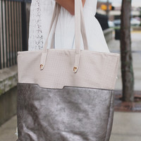 Stone Cold Tote- Pewter