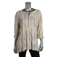 Free People Womens Metallic Oversized Tunic Top