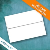A2 Size White Envelopes   Pack of 100