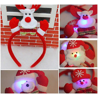 LED Adult Kids Christmas Xmas Headband Hat Reindeer Santa Claus Decorations 3C#