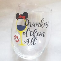 Disney Princess Snow White Drunkest Of Them All Food And Wine Festival Cup