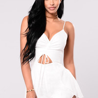 Under The Sun Romper - White
