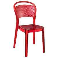 Bee Polycarbonate Dining Chair Transparent Red - Pack of 2