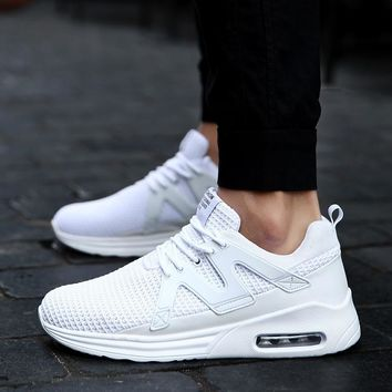 Women's Men's Knit Breathable Casual Sneakers Lightweight Athletic Tennis Walking Running Shoes