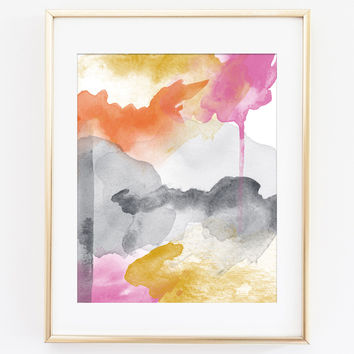 Modern Abstract Art Print 2 - Morning Joy