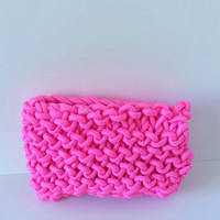 Roping Bags LIMITED EDITION, Knitted Bags, Roping bags, The Duchess in Fluro Pink Clutch - Women accessories, women's bag