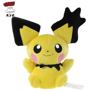 "Pokemon Plush Toys 14"" 35cm Big Pichu Soft Stuffed Plush Doll Baby Toy Animal Cartoon Christmas Gift Kids Toys for Children"