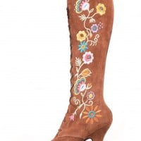 Jeffrey Campbell Shoes WISTERIA Boots in Tan Multi