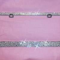 TheCraftStar - Market Place - Luxury Bling High Quality License Plate Frame Different Crystals Sizes Clear So Fabulous