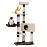 Domestic Delivery Cat Toys Cat House Bed Hanging Balls Tree Kitten Furniture&Scratchers Solid Wood for Cats Climbing Frame