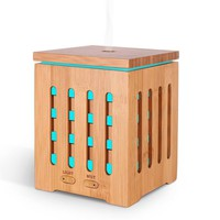 【Natural Aromatherapy】Real Bamboo Essential Oil Diffuser, Ultrasonic Aromotherapy Diffusers Cool Mist Aroma Diffuser Humidifier for Home Office Yoga Baby Room