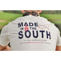 """""""Made in the South"""" Pocket Tee in White by High Cotton"""