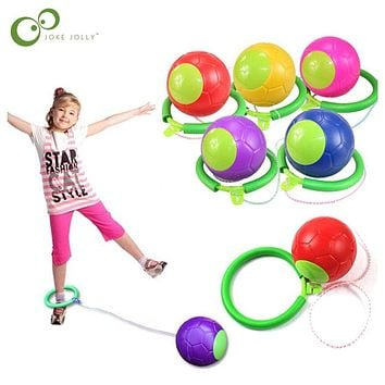 1PC Skip Ball Outdoor Fun Toy Ball Classical Skipping Toy Exercise coordination and balance hop jump playground may toy ball ZXH