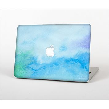 "The Subtle Green & Blue Watercolor V2 Skin Set for the Apple MacBook Pro 13"" with Retina Display"