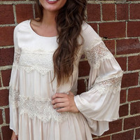 Vintage Tunic/Dress in Taupe   The Rage