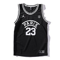 Jordan Fashion New People Letter Print Men Vest Top T-Shirt Black