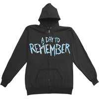 A Day To Remember Men's  Out To Get Me Zippered Hooded Sweatshirt Black