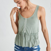 AE Soft & Sexy Babydoll Top, Olive