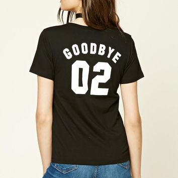Peace and Good Bye V-neck Tee